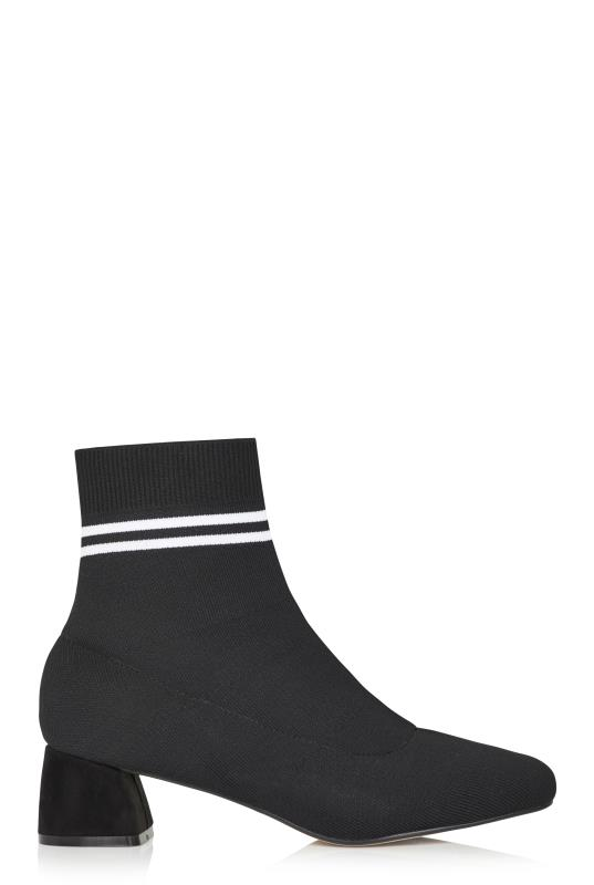 LTS Black Sasha Knit Ankle Boot