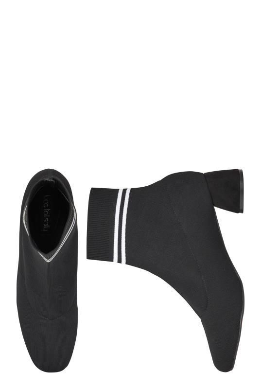 LTS Black Sasha Knit Ankle Boot