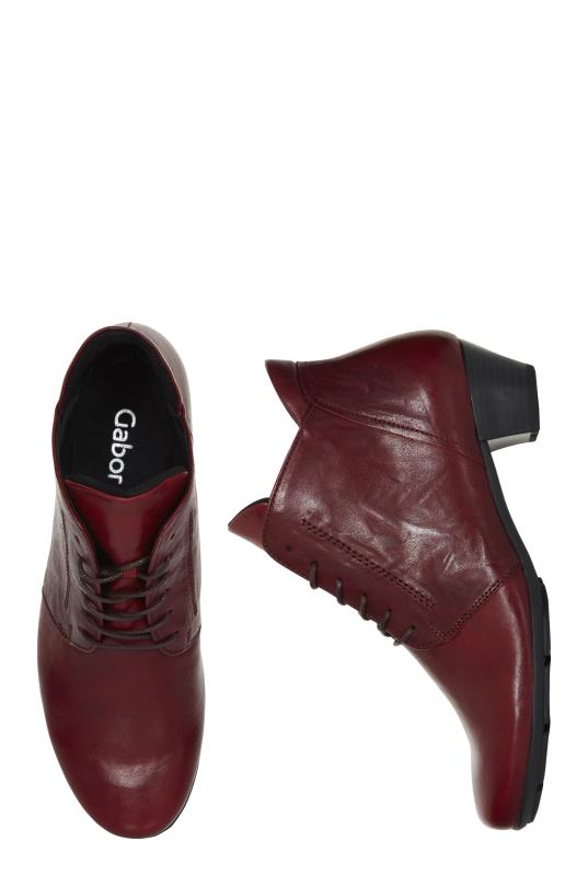 Gabor Heeled Leather Lace Up Boot