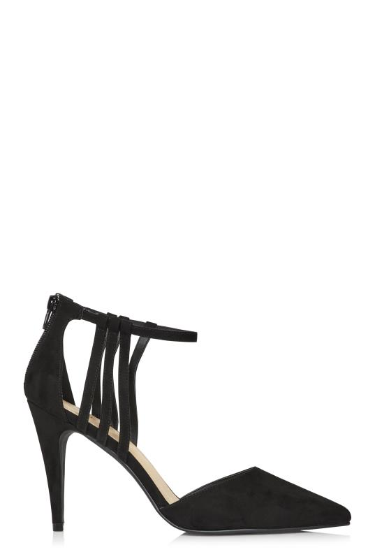 Black Mackenzie Strappy Heeled Shoes