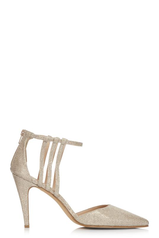 Gold Sparkle Mackenzie Strappy High Heel