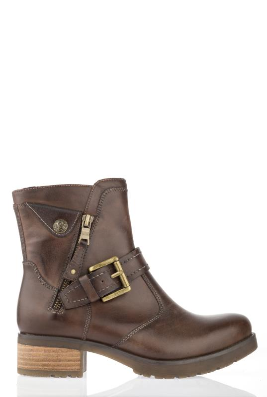 Brown Earth Drumlin Ankle Boots