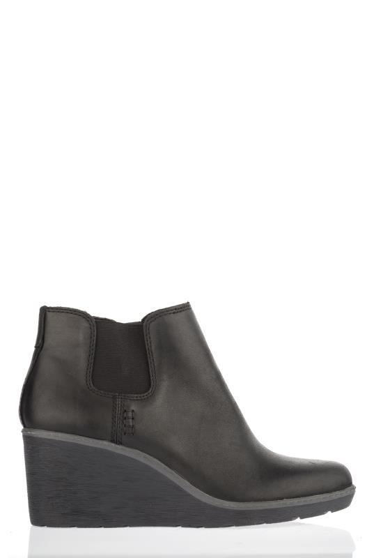 CLARKS Black Hazen Flora Ankle Boots