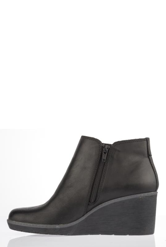 CLARKS Black Hazen Flora Ankle Boots_2.jpg