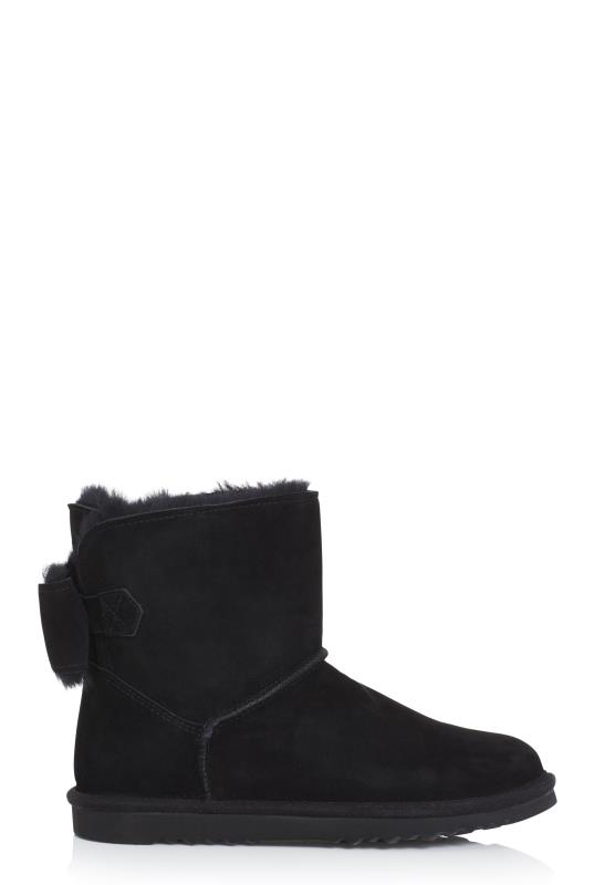 Tall Boots Black Suri Sheepskin Lined Suede Boot