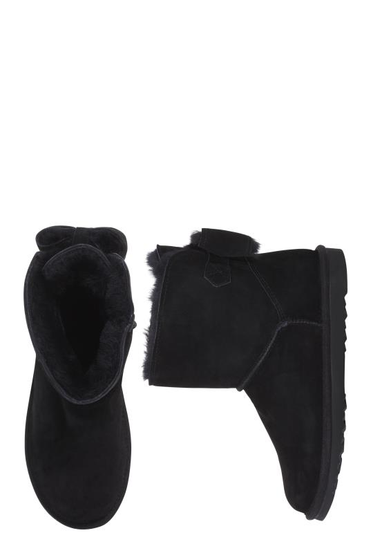 Black Suri Sheepskin Lined Suede Boot