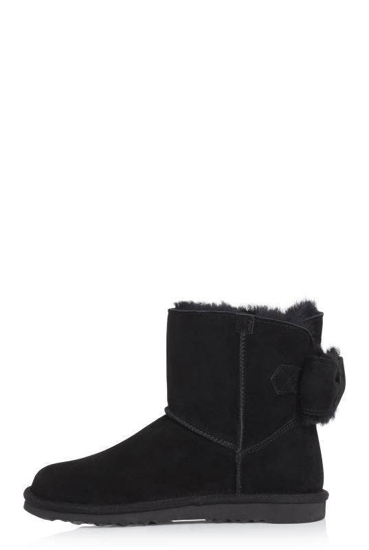 Black Suri Sheepskin Lined Suede Boot