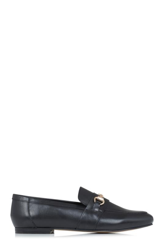 Tall Loafers LTS Black Louise Leather Loafer