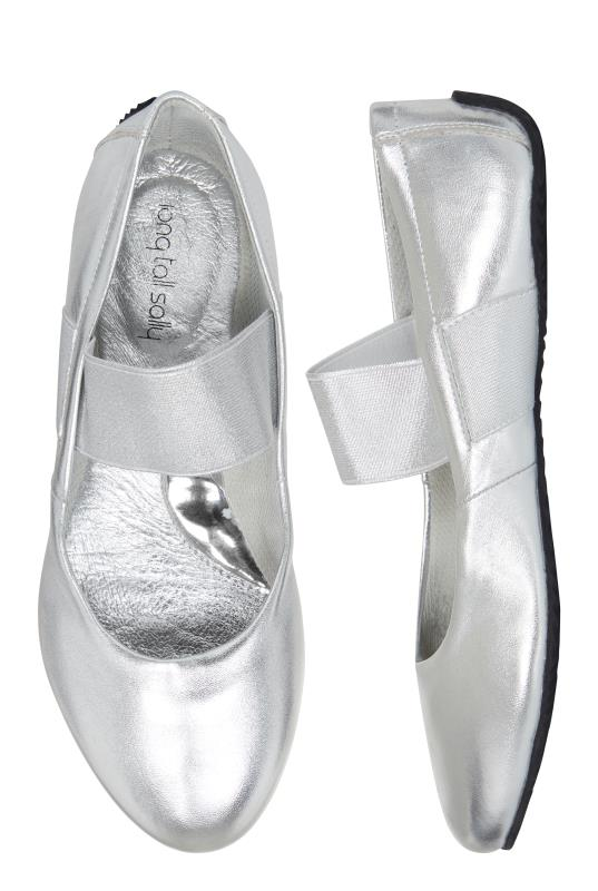 LTS Silver Katia Comfy Leather Ballerina