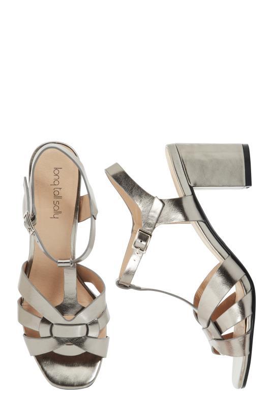 Metallic LTS Ruby T-Bar Heeled Sandal