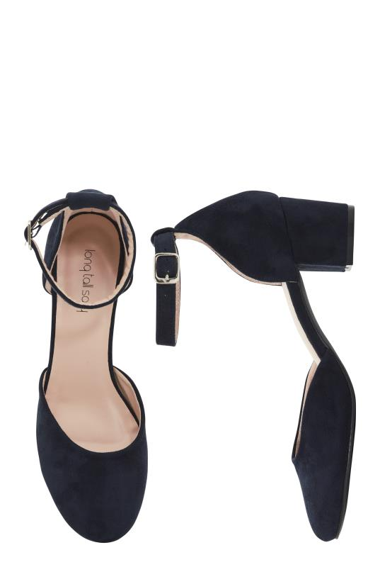 Navy Block Heel Shoe