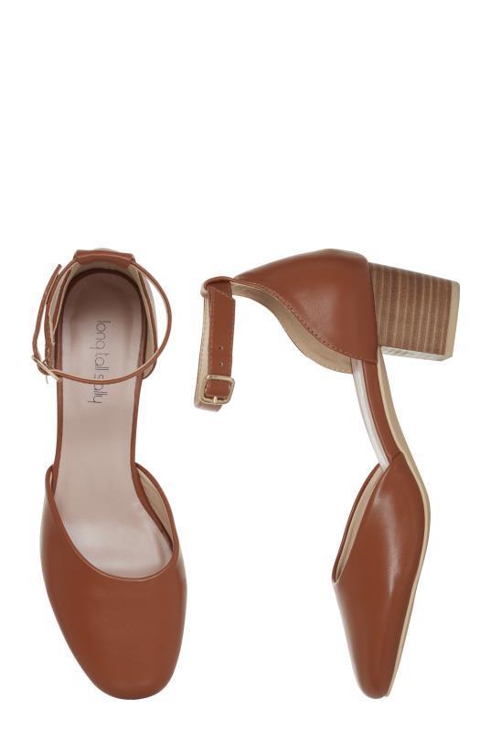 Tan Block Heel Shoe
