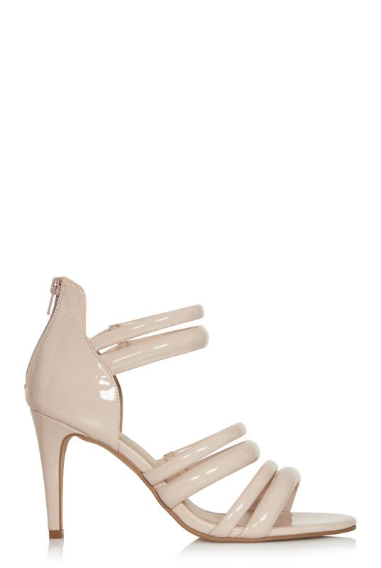 Pink Rosetta Strappy Heels
