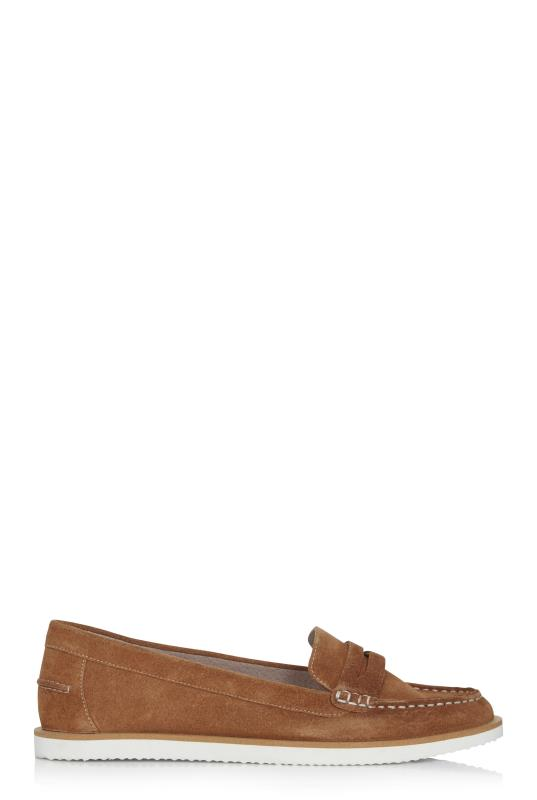 Tall Loafers LTS Tan Lilly Suede Boat Shoe