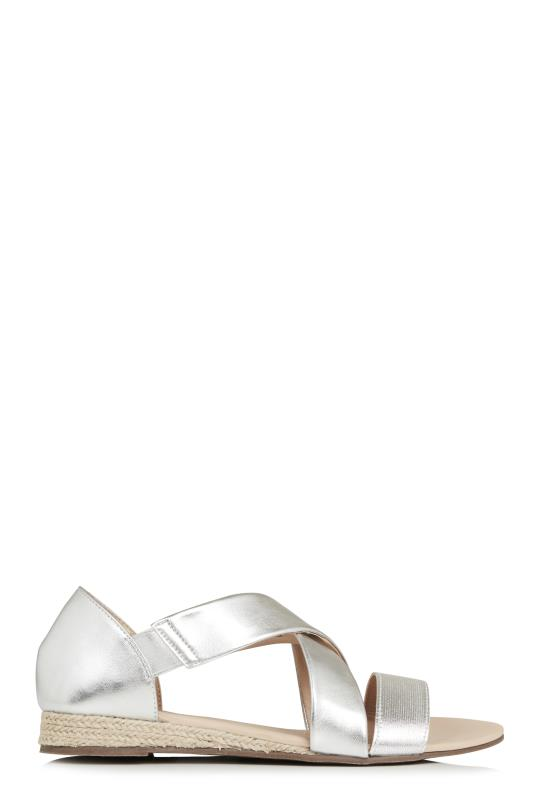 LTS Silver Dolly Elasticated Mini Wedge