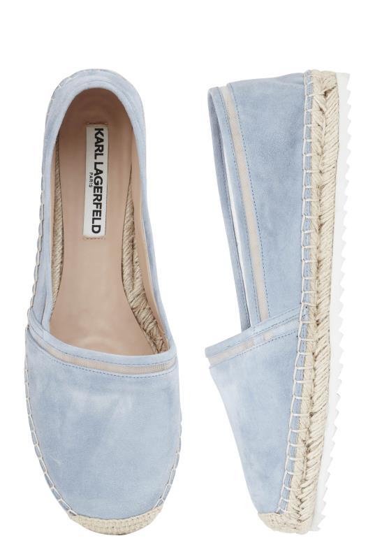 KARL LAGERFELD Paris Alaine Blue Espadrille Shoe