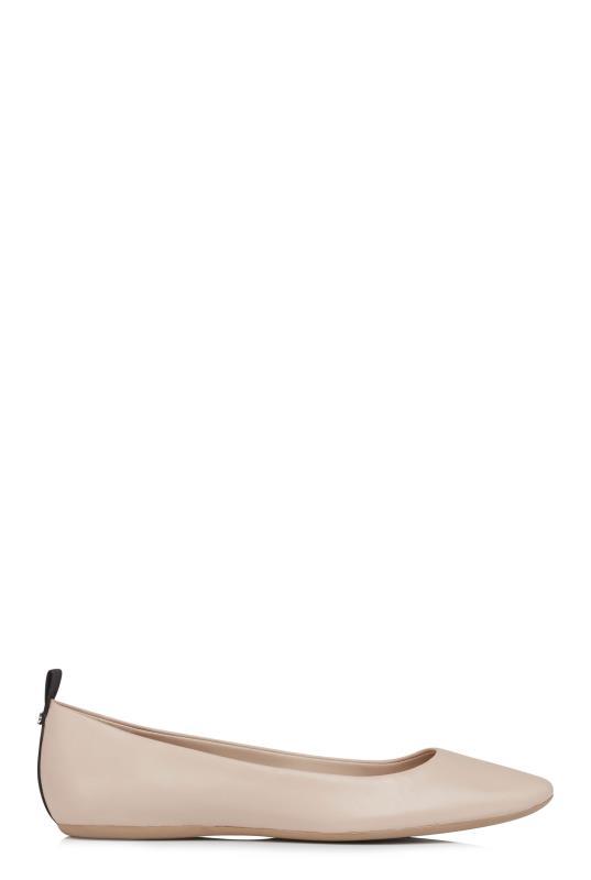 Tall Ballerinas KARL LAGERFELD Nude Ballerina Flat Shoes