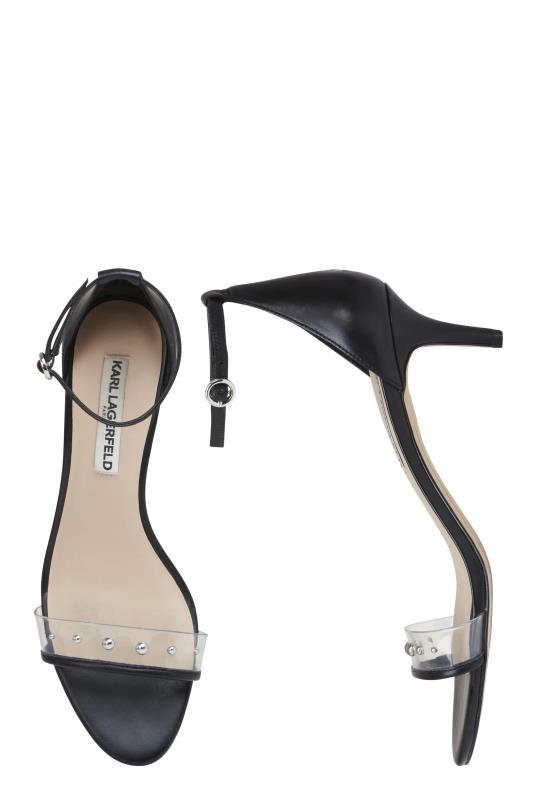 KARL LAGERFELD Black Dixie Ankle Strap Sandals