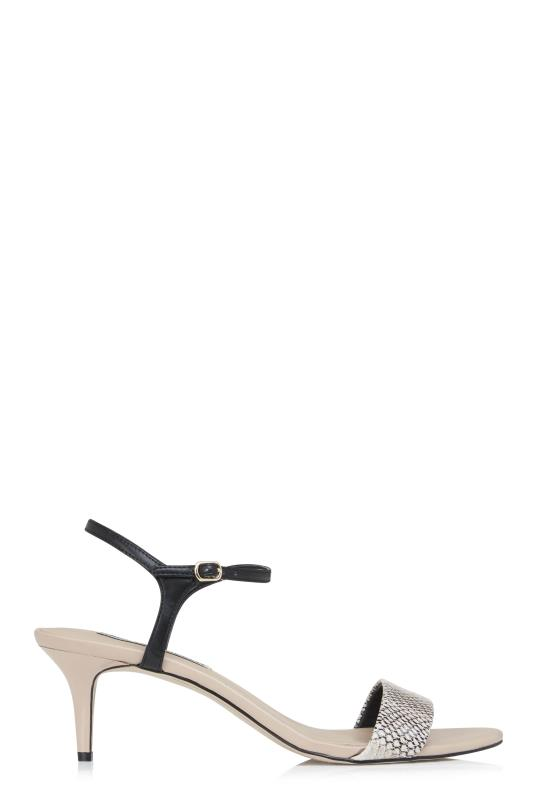 Karl Lagerfeld Paris Nude Demas Heel Sandals