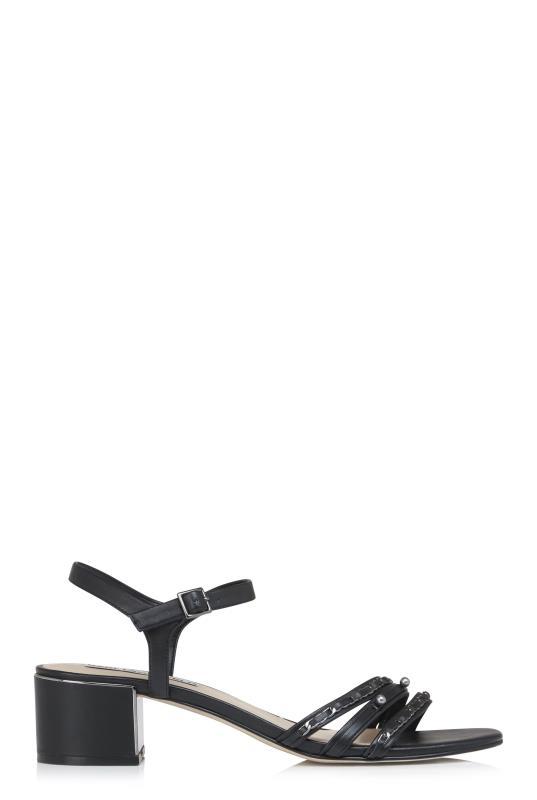 KARL LAGERFELD Black Tori Block Heel Sandals