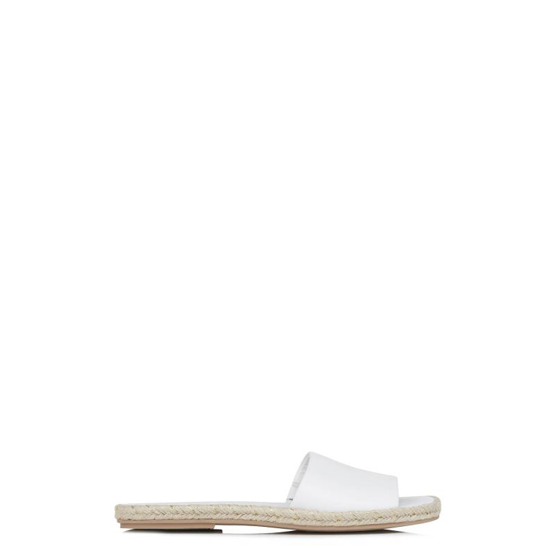 Karl Lagerfeld Paris Niya Espadrille Slide Flat Sandals