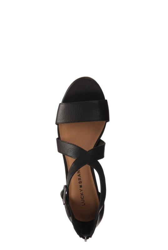 Black Lucky Brand Jenley Wedge Sandals
