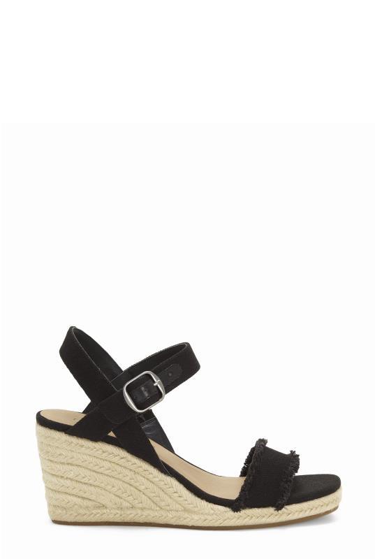 Lucky Brand Black Marceline Wedge Sandal