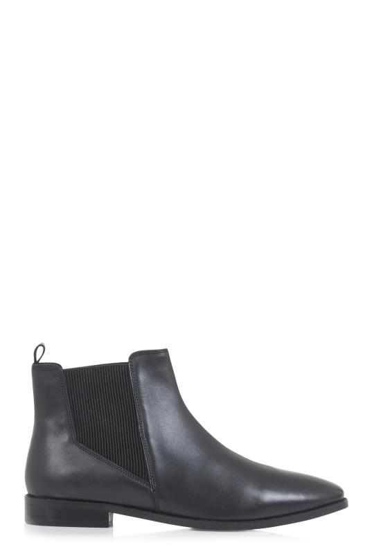 Tall Boots Black Leopard Print Leather Chelsea Boots