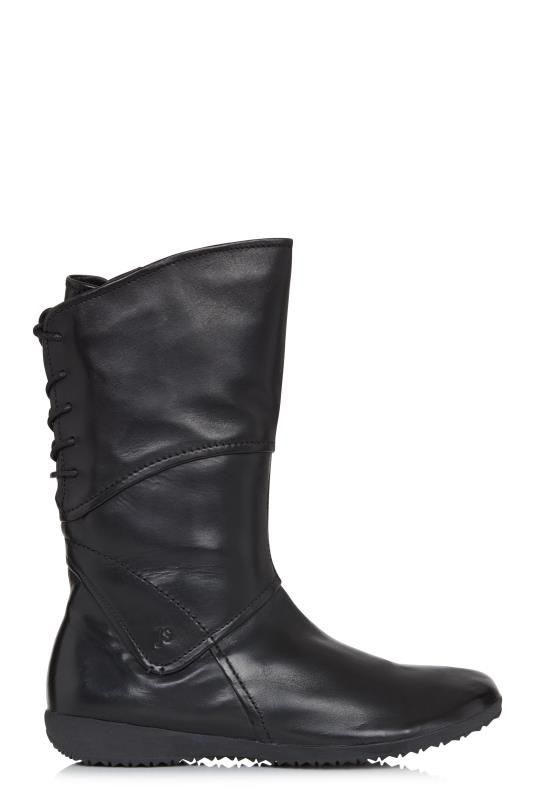 Tall Boots Josef Seibel Naly 07 Leather Lace Up Calf Boot