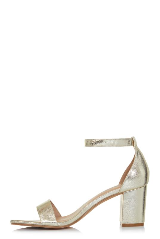 LTS Silver Rosa Strappy Barely There Heel