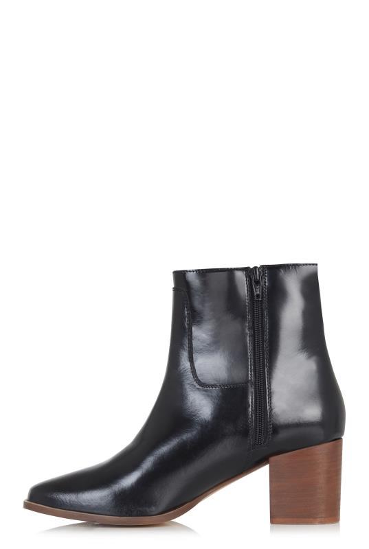 Black Sophia Leather Ankle Boot