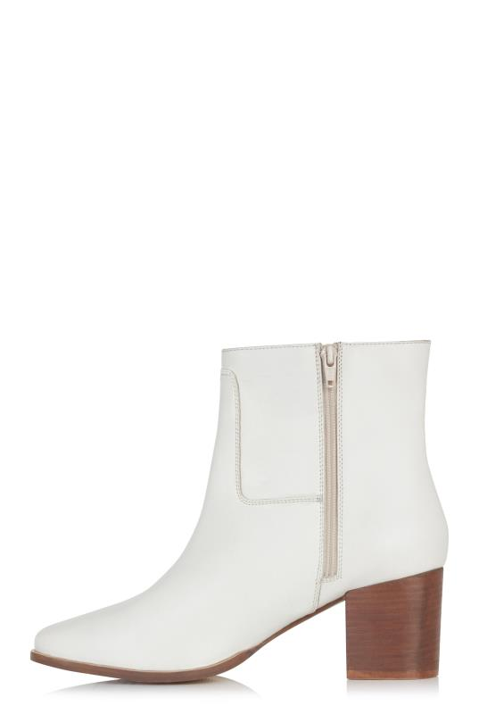LTS Ecru Sophia Leather Ankle Boot
