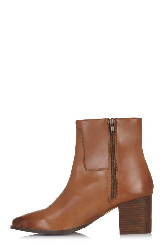 Tan Sophia Leather Ankle Boot
