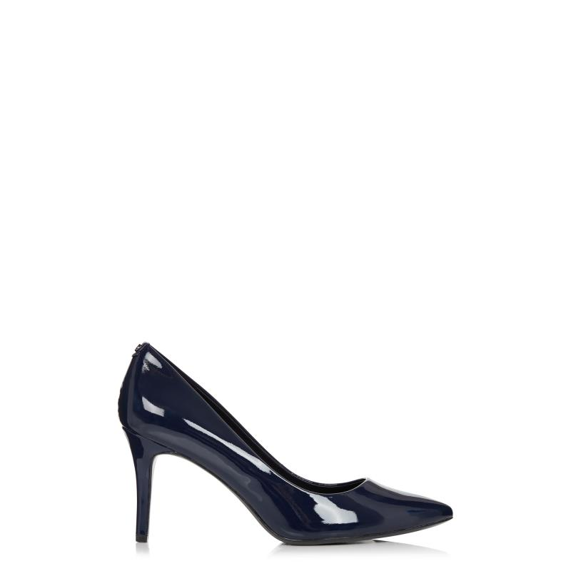 Tall Courts KARL LAGERFELD Navy Shine Royale Pointed Heels