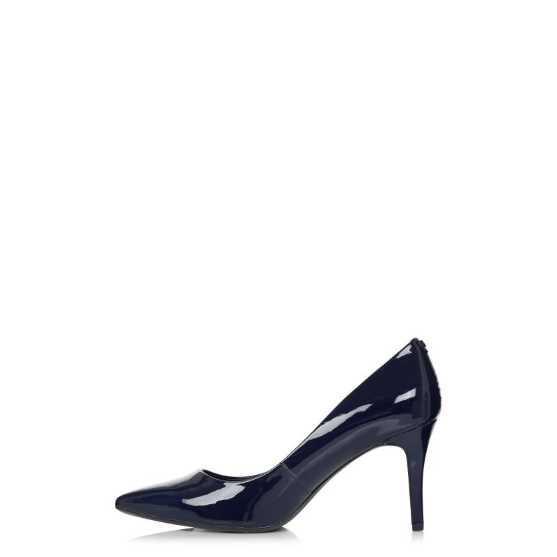 KARL LAGERFELD Navy Shine Royale Pointed Heels