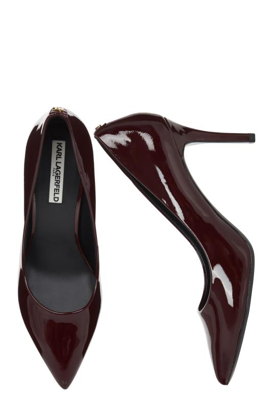KARL LAGERFELD Red Shine Royale Pointed Heels
