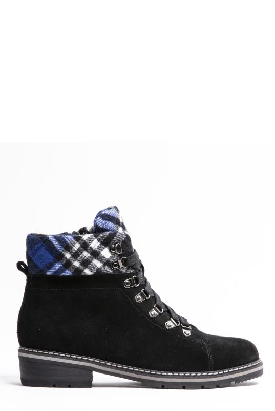 Tall Boots BLONDO Black Victorine Felt Cuff Suede Winter Boot