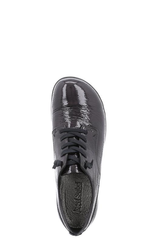 Black Josef Siebel Naly Leather Lace Up Shoe