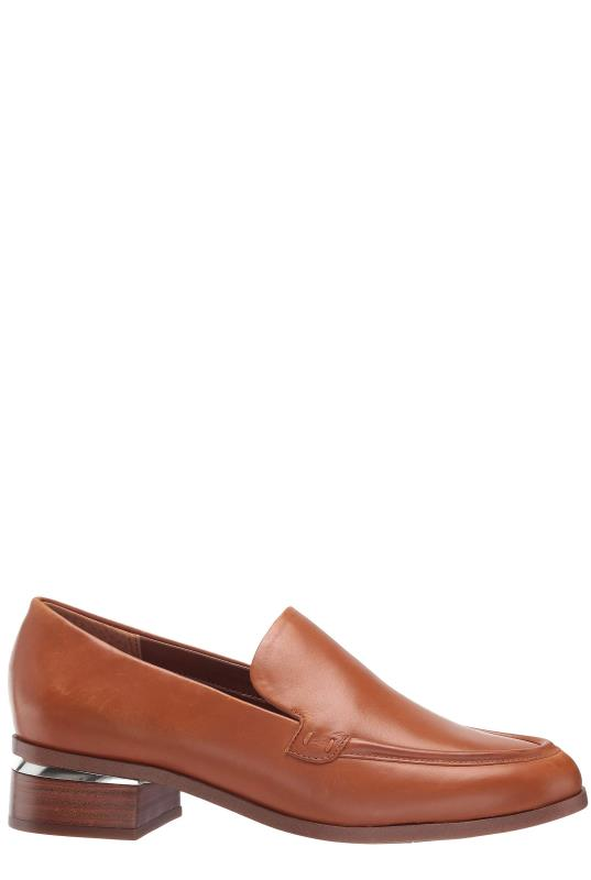 Tan Franco Sarto Bocca Leather Heeled Loafer