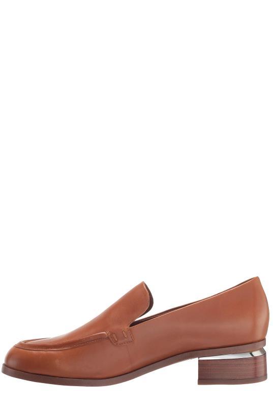 Tan Franco Sarto Bocca Leather Heeled Loafer