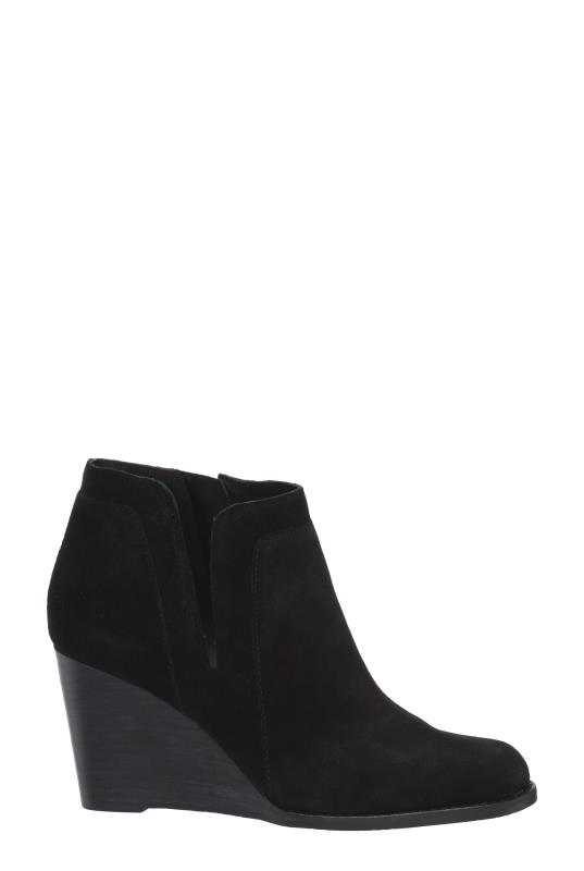 Tall Boots LUCKY BRAND YABBA Black Wedge Ankle Boot