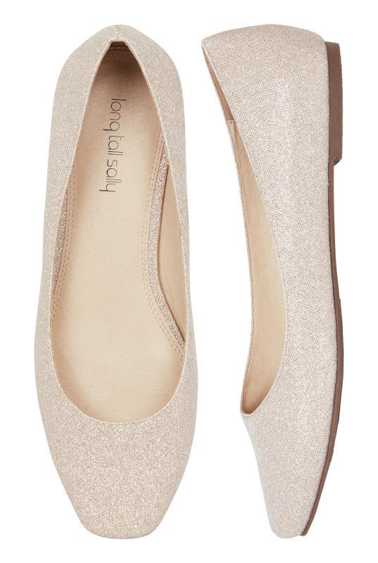 Violetta Pink Glitter Square-Toe Ballerina Pumps