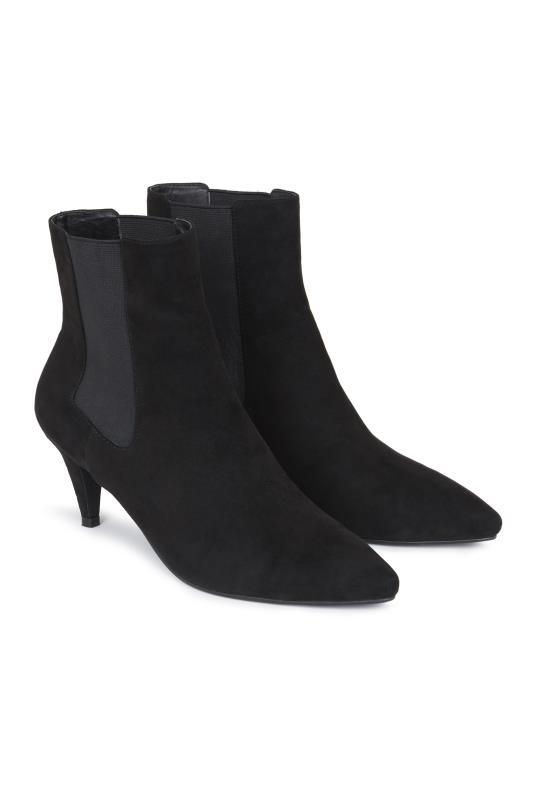 Tall Boots Black Kitten Heel Ankle Boot