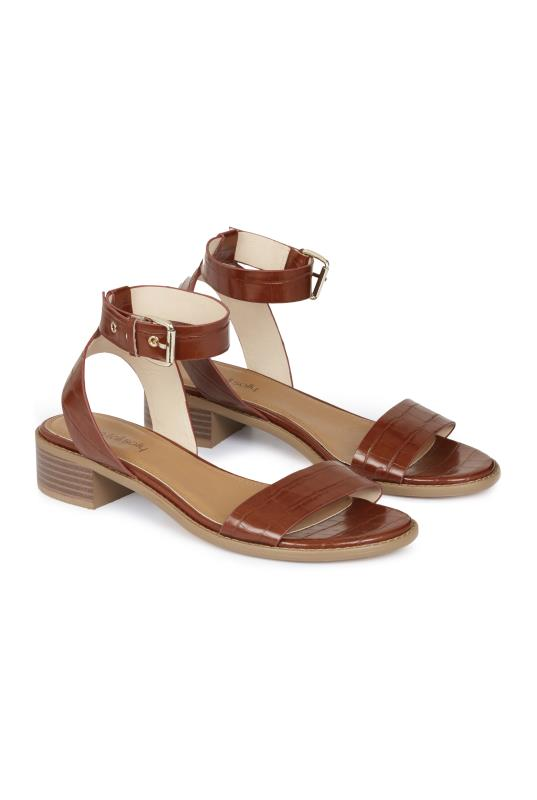 Brown Shruti Two Part Block Heel Sandal