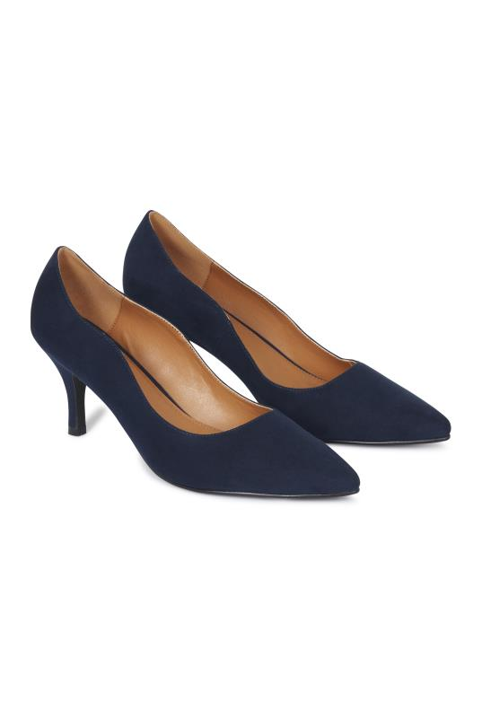 Tall Courts Navy Daisy Court Heel