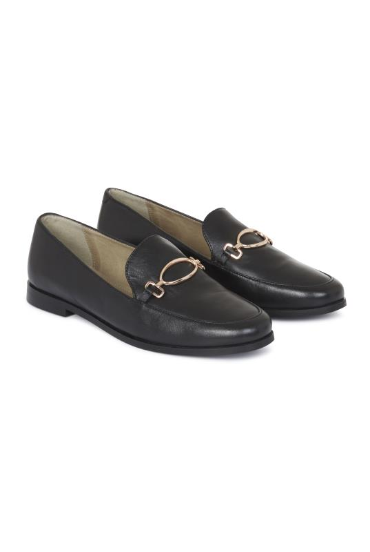 Black Renae Leather Snaffle Loafer