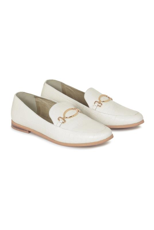 Tall Loafers White Renae Leather Snaffle Loafer