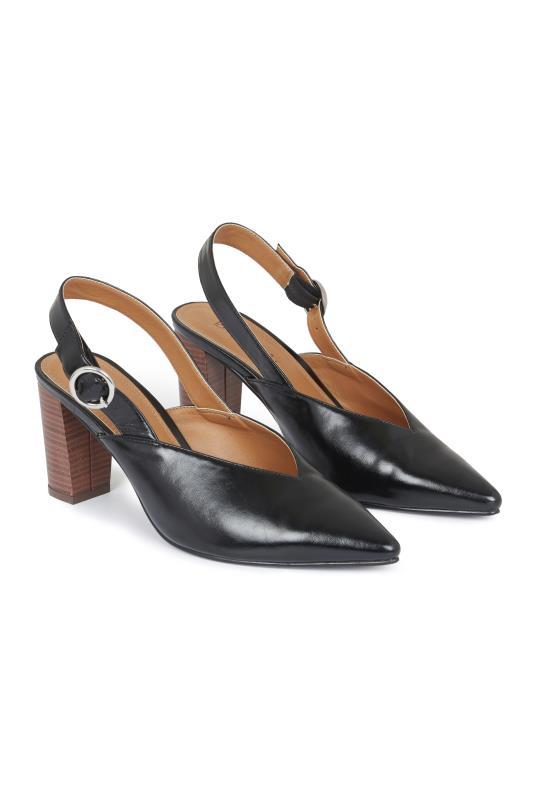 LTS Black Daniella Slingback Block Heel