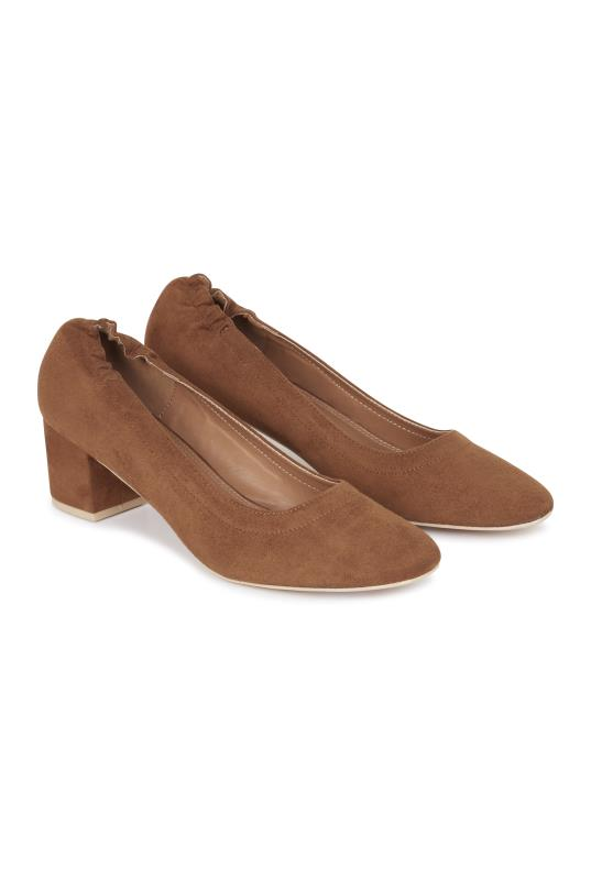 Tall Courts LTS Darcy Elasticated Block Heel Court