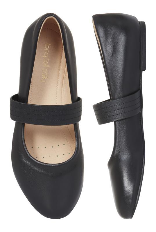 Black Leather Comfy Ashley Ballerina